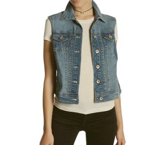 Live A Little Blue Denim Jean Jacket Vest